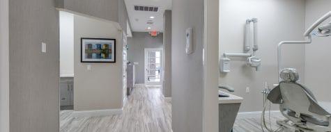 Hallway shot Dental365 Oceanside location