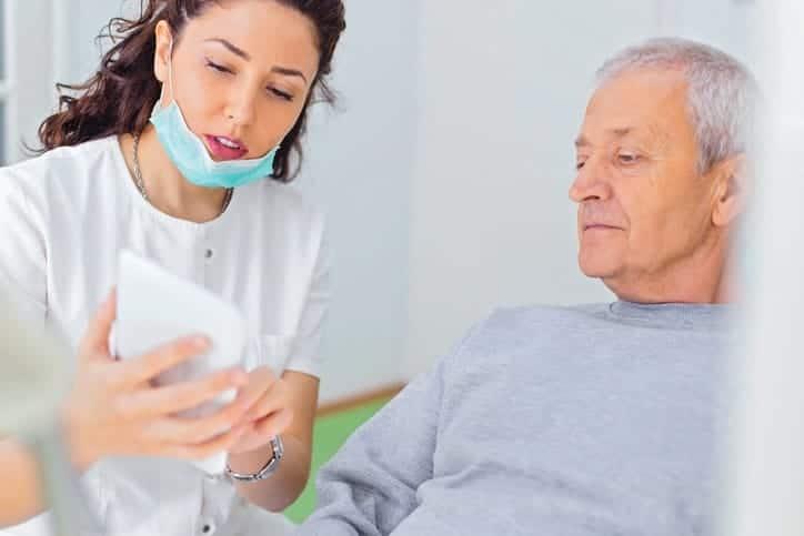 elderly dentist patient