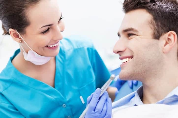 male at dentist