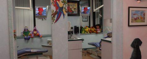 Woodbury pediatric interior shot of dental chairs