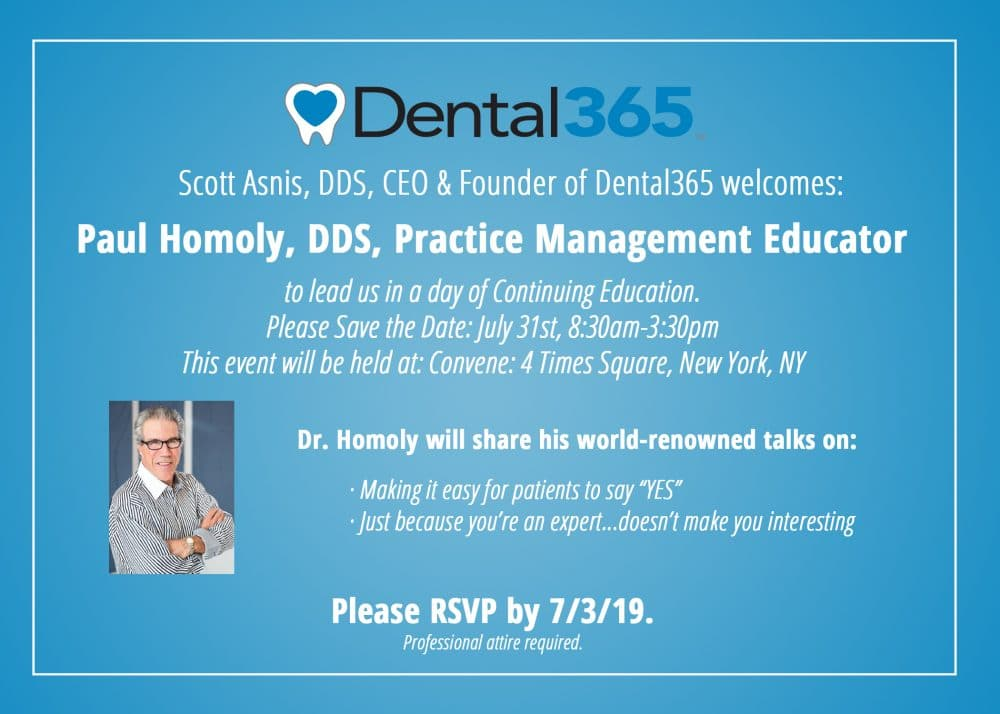 Paul Homoly, DDS hosts continuing education for Dental365