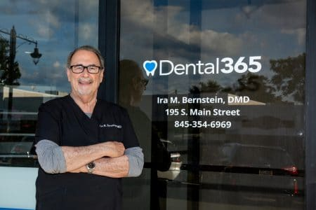 Dr. Ira Bernstein outside of his dental practice