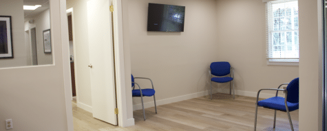 Middle Island office waiting room