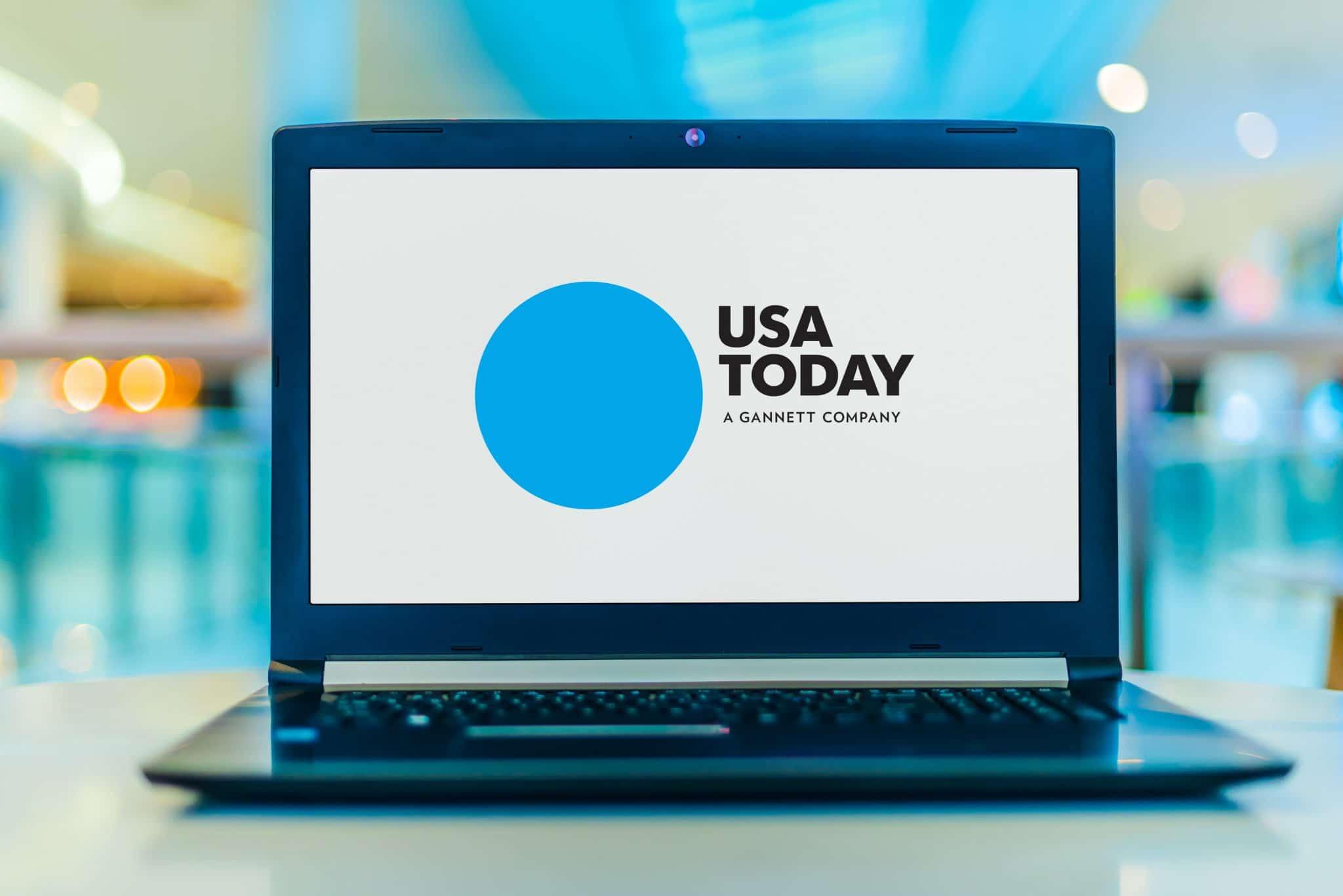 USA Today Logo on Laptop Screen