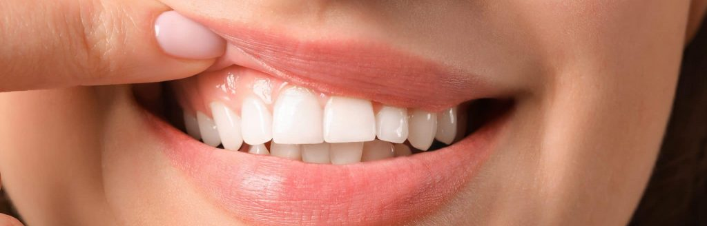 Young Woman With Healthy Gums Closeup